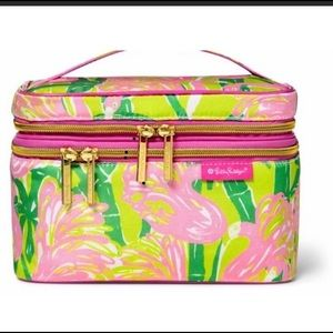 Lily Pulitzer soft sided train case cosmetic bag